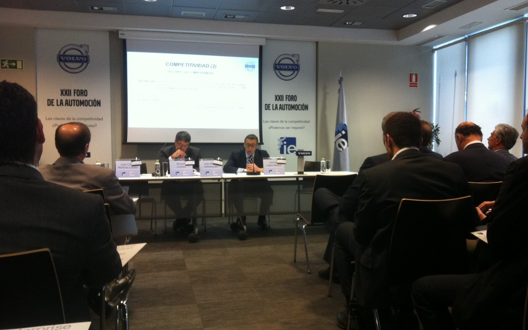 KeelWit attends the XXII automotive forum organised by Instituto de Empresa, concerning competitiveness in the automotive business in Spain