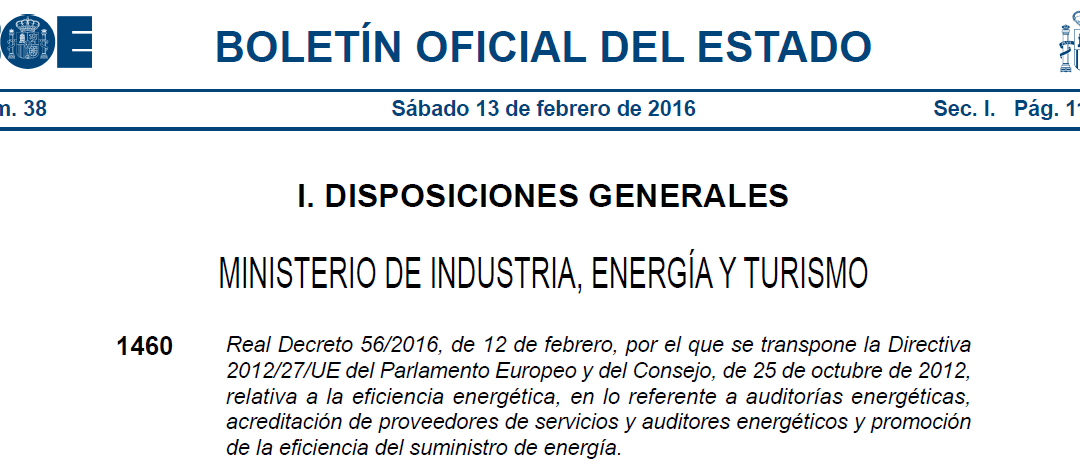 3,900 big companies in Spain forced to perform an Energy Audit in less than 9 months time