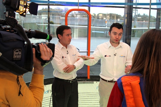 Media event in our Skydiving Wind Tunnel Madrid Fly