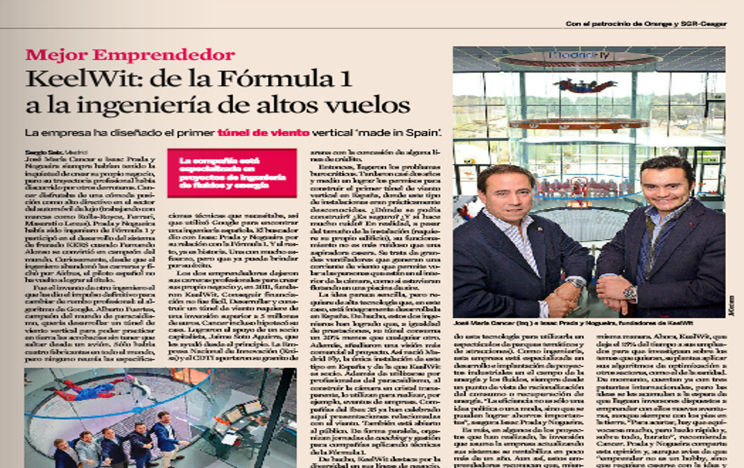 Full page interview in Expansión financial journal